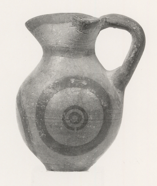 Cypriot. <em>Miniature Oinochoe</em>, 600-475 B.C.E. Terracotta, pigment, Height: 2 3/16 in. (5.6 cm). Brooklyn Museum, Brooklyn Museum Collection, 35.821. Creative Commons-BY (Photo: Brooklyn Museum, CUR.35.821_print_NegA_bw.jpg)