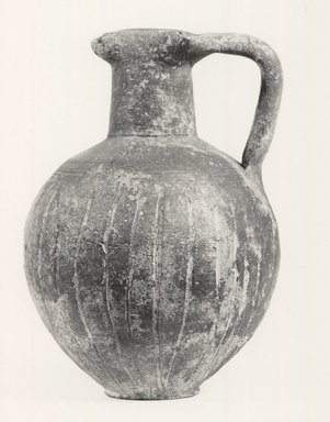 Cypriot. <em>Oinochoe</em>, 950-850 B.C.E. Terracotta, Height: 4 in. (10.2 cm). Brooklyn Museum, Brooklyn Museum Collection, 35.824. Creative Commons-BY (Photo: Brooklyn Museum, CUR.35.824_print_NegA_bw.jpg)
