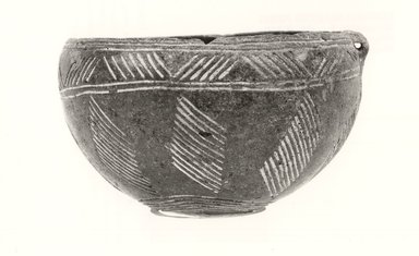 Cypriot. <em>Bowl</em>, 1950-1900 B.C.E. Terracotta, pigment, 2 15/16 x Diam. 4 1/2 in. (7.5 x 11.4 cm). Brooklyn Museum, Brooklyn Museum Collection, 35.827. Creative Commons-BY (Photo: Brooklyn Museum, CUR.35.827_print_NegA_bw.jpg)