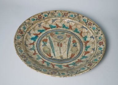 <em>Plate</em>, 17th century. Ceramic, 2 3/16 x 13 1/8 in. (5.5 x 33.3 cm). Brooklyn Museum, Gift of Frank L. Babbott, 35.830. Creative Commons-BY (Photo: Brooklyn Museum, CUR.35.830.jpg)