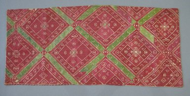 Greek. <em>Strip of Linen</em>, 19th century. Linen, silk thread, silk backing, 36 1/4 x 16 1/4 in. (92.1 x 41.3 cm). Brooklyn Museum, Gift of Mrs. Frederic B. Pratt, 36.1. Creative Commons-BY (Photo: Brooklyn Museum, CUR.36.1.jpg)