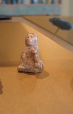 <em>Baboon</em>, ca. 1938-1700 B.C.E. Ivory, 1 1/4 x 2 11/16 in. (3.1 x 6.9 cm). Brooklyn Museum, Charles Edwin Wilbour Fund, 36.123. Creative Commons-BY (Photo: Brooklyn Museum, CUR.36.123_erg2.jpg)