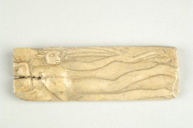 Byzantine. <em>Plaque with Figural Decoration</em>. Bone, 1 7/16 x 4 3/8 in. (3.6 x 11.1 cm). Brooklyn Museum, Frank L. Babbott Fund and Henry L. Batterman Fund, 36.163. Creative Commons-BY (Photo: Brooklyn Museum (in collaboration with Index of Christian Art, Princeton University), CUR.36.163a_ICA.jpg)