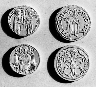 Byzantine. <em>Coin: Grosso of Venice</em>, 1205-1229 C.E. Silver, Diam.: 7/8 in. (2.3 cm). Brooklyn Museum, Frank L. Babbott Fund and Henry L. Batterman Fund, 36.192. Creative Commons-BY (Photo: Brooklyn Museum, CUR.36.192_neg_grpA_bw.jpg)