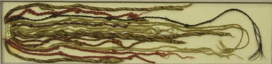 probably Colonial. <em>Quipu</em>, circa 17th -18th century. Cotton, camelid fiber, 3 1/4 × 18 3/4 in. (8.3 × 47.6 cm). Brooklyn Museum, Gift of Mrs. Eugene Schaefer, 36.412. Creative Commons-BY (Photo: Brooklyn Museum, CUR.36.412.jpg)