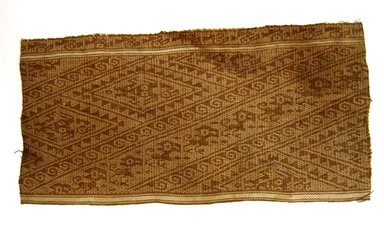 Chancay. <em>Textile Fragment, unascertainable or Mantle, Fragment</em>, 1000-1532. Cotton, 11 3/4 × 5 3/4 in. (29.8 × 14.6 cm). Brooklyn Museum, Gift of Mrs. Eugene Schaefer, 36.429. Creative Commons-BY (Photo: Brooklyn Museum, CUR.36.429.jpg)