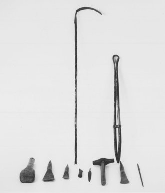 Kwanga. <em>Spear</em>, late 19th-early 20th century. Iron, 13 1/2 in. (34.0 cm). Brooklyn Museum, Museum Collection Fund, 36.545. Creative Commons-BY (Photo: Brooklyn Museum, CUR.36.531-.534_36.536-.539_36.543_36.545_print_bw.jpg)