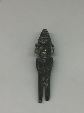 Inca. <em>Male Figurine</em>, 1470-1532. Bronze, 4 5/16 × 1 1/8 × 1 in. (11 × 2.9 × 2.5 cm). Brooklyn Museum, Gift of Dr. John H. Finney, 36.692. Creative Commons-BY (Photo: , CUR.36.692_front.jpg)