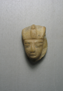 <em>Shabty of King Siptah</em>, ca. 1198-1193 B.C.E. Egyptian alabaster (calcite), pigment, 2 11/16 × 1 15/16 × 1 7/16 in. (6.9 × 4.9 × 3.7 cm). Brooklyn Museum, Gift of Louis Herse, 36.742. Creative Commons-BY (Photo: , CUR.36.742_view07.jpg)