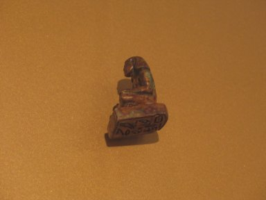 <em>Stamp Seal of Meru the 'Answerer of Horus [the King]'</em>, ca. 1838-1759 B.C.E. Steatite, glaze, 1 9/16 x 7/8 x 13/16 in. (4 x 2.2 x 2 cm). Brooklyn Museum, Charles Edwin Wilbour Fund, 36.837. Creative Commons-BY (Photo: Brooklyn Museum, CUR.36.837_erg2.jpg)