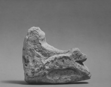 <em>Group of a Monkey Driving a Chariot</em>, ca. 1352-1336 B.C.E. Limestone, pigment, 3 3/8 x 1 1/8 x 3 15/16 in. (8.5 x 2.8 x 10 cm). Brooklyn Museum, Gift of the Egypt Exploration Society, 36.885. Creative Commons-BY (Photo: Brooklyn Museum, CUR.36.885_NegA_print_bw.jpg)