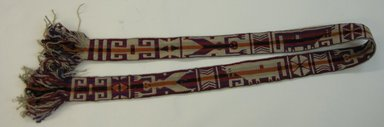 Mapuche. <em>Belt</em>, early 20th century. Wool, 2 9/16 x 78 3/4 in. (6.5 x 200 cm). Brooklyn Museum, Ella C. Woodward Memorial Fund, 36.921. Creative Commons-BY (Photo: Brooklyn Museum, CUR.36.921.jpg)