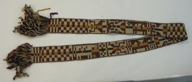 Mapuche. <em>Belt</em>, early 20th century. Wool, 3 9/16 x 86 5/8 in. (9 x 220 cm). Brooklyn Museum, Ella C. Woodward Memorial Fund, 36.922. Creative Commons-BY (Photo: Brooklyn Museum, CUR.36.922.jpg)