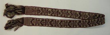 Mapuche. <em>Belt</em>, early 20th century. Wool, 2 15/16 x 75 9/16 in. (7.5 x 192 cm). Brooklyn Museum, Ella C. Woodward Memorial Fund, 36.923. Creative Commons-BY (Photo: Brooklyn Museum, CUR.36.923.jpg)