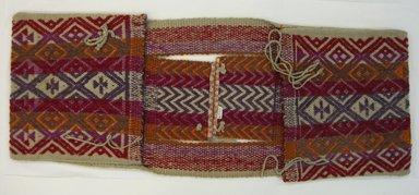 Mapuche. <em>Saddle Bag</em>, early 20th century. Wool, 12 5/8 x 35 1/16 in. (32 x 89 cm). Brooklyn Museum, Ella C. Woodward Memorial Fund, 36.927. Creative Commons-BY (Photo: Brooklyn Museum, CUR.36.927.jpg)