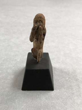<em>Small Figure of a Monkey</em>, a. 1539-1292 B.C.E. Wood, 2 1/16 × 9/16 × 13/16 in. (5.2 × 1.4 × 2.1 cm). Brooklyn Museum, Charles Edwin Wilbour Fund, 37.1224E. Creative Commons-BY (Photo: , CUR.37.1224E_view01.jpg)