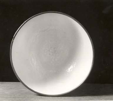 <em>Bowl</em>, 1127-1279. Porcelain with qingbai glaze, 2 15/16 x 6 7/8 in. (7.5 x 17.5 cm). Brooklyn Museum, By exchange, 37.134. Creative Commons-BY (Photo: Brooklyn Museum, CUR.37.134_bw.jpg)