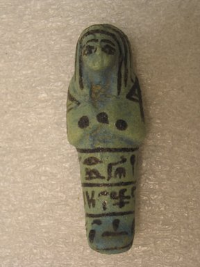 <em>Shabty of Princess Muthotep</em>, ca. 1075-656 B.C.E. Faience Brooklyn Museum, Charles Edwin Wilbour Fund, 37.139E. Creative Commons-BY (Photo: Brooklyn Museum, CUR.37.139E_front.jpg)