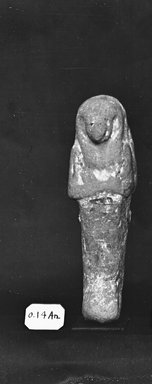 Egyptian. <em>Small Ushabti of the Women Zed-Khonsu</em>, ca. 1292-656 B.C.E. Nile mud, pigment, 4 5/16 x 1 1/4 x 1 1/4 in. (11 x 3.2 x 3.2 cm). Brooklyn Museum, Charles Edwin Wilbour Fund, 37.142E. Creative Commons-BY (Photo: Brooklyn Museum, CUR.37.142E_NegGRPA_cropped_bw.jpg)