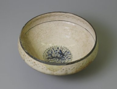 <em>Medium-sized Bowl</em>, late 13th century. Ceramic, 4 1/16 in. (10.3 cm). Brooklyn Museum, Designated Purchase Fund and by exchange, 37.145. Creative Commons-BY (Photo: Brooklyn Museum, CUR.37.145_interior.jpg)