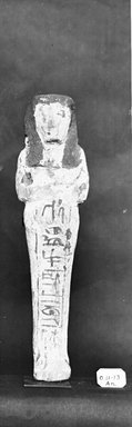 Egyptian. <em>Ushabti of Ainmose</em>, ca. 1292-656 B.C.E. Wood, pigment, 7 5/16 x 1 13/16 x 1 1/8 in. (18.5 x 4.6 x 2.8 cm). Brooklyn Museum, Charles Edwin Wilbour Fund, 37.157E. Creative Commons-BY (Photo: Brooklyn Museum, CUR.37.157E_37.156E_NegGRPA_cropped_bw.jpg)