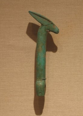 <em>Was-Scepter</em>, ca. 664 B.C.E.-305 B.C.E. Faience Brooklyn Museum, Charles Edwin Wilbour Fund, 37.1650E. Creative Commons-BY (Photo: Brooklyn Museum, CUR.37.1650E_wwg8.jpg)