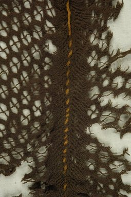 Coptic. <em>Cap</em>. Wool, 7 x 20 in. (17.8 x 50.8 cm). Brooklyn Museum, Charles Edwin Wilbour Fund, 37.1763E. Creative Commons-BY (Photo: Brooklyn Museum (in collaboration with Index of Christian Art, Princeton University), CUR.37.1763E_detail01_ICA.jpg)