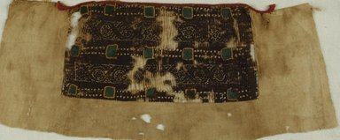 Coptic. <em>Fragment with Botanical and Geometric Decoration</em>, 4th-5th century C.E. Linen, wool, 5 x 16 in. (12.7 x 40.6 cm). Brooklyn Museum, Charles Edwin Wilbour Fund, 37.1772E. Creative Commons-BY (Photo: Brooklyn Museum (in collaboration with Index of Christian Art, Princeton University), CUR.37.1772E_ICA.jpg)