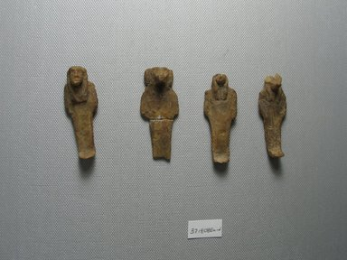 <em>Figures from a Set of the Sons of Horus</em>. Wax, 37.1808Ea: 2 5/16 x 7/8 x 1/2 in. (5.9 x 2.3 x 1.3 cm). Brooklyn Museum, Charles Edwin Wilbour Fund, 37.1808Ea-d. Creative Commons-BY (Photo: Brooklyn Museum, CUR.37.1808Ea-d_overall.jpg)