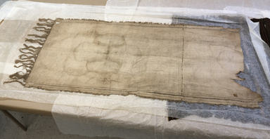Coptic. <em>Large Piece of Linen</em>. Linen, 35 × 84 in. (88.9 × 213.4 cm). Brooklyn Museum, Charles Edwin Wilbour Fund, 37.1812E. Creative Commons-BY (Photo: , CUR.37.1812E_view01.jpg)
