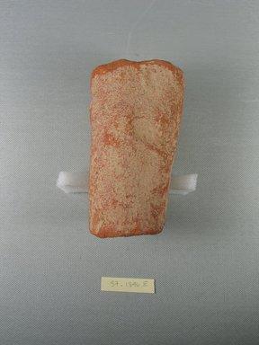 <em>Funerary Cone</em>, ca. 1479-1400 B.C.E. Terracotta, Diam. 2 13/16 x 4 15/16 in. (7.2 x 12.5 cm). Brooklyn Museum, Charles Edwin Wilbour Fund, 37.1846E. Creative Commons-BY (Photo: Brooklyn Museum, CUR.37.1846E.jpg)