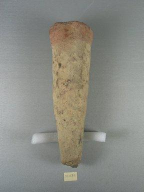 <em>Funerary Cone</em>, ca. 1539-1075 B.C.E. Terracotta, Diam. 2 5/8 x 8 3/16 in. (6.7 x 20.8 cm). Brooklyn Museum, Charles Edwin Wilbour Fund, 37.1871E. Creative Commons-BY (Photo: Brooklyn Museum, CUR.37.1871E.jpg)