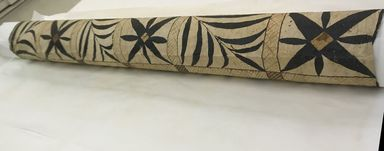 Fijian. <em>Tapa (Masi)</em>. Barkcloth, pigment, 69 5/16 x 57 1/16 in. (176 x 145 cm). Brooklyn Museum, Gift of Mrs. Frederic B. Pratt, 37.196. Creative Commons-BY (Photo: , CUR.37.196_detail01.jpg)