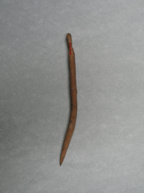 <em>Curved Needle</em>, 313-642 C.E. Wood, Diam. 1/4 x 6 1/8 in. (0.7 x 15.5 cm). Brooklyn Museum, Charles Edwin Wilbour Fund, 37.1978E. Creative Commons-BY (Photo: Brooklyn Museum, CUR.37.1978E_view1.jpg)