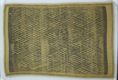 Possibly Kongo. <em>Mat</em>, 19th century. Rattan, 25 11/16 x 16 5/16 in. (65.2 x 41.5 cm). Brooklyn Museum, Gift of Mrs. Frederic B. Pratt, 37.201. Creative Commons-BY (Photo: Brooklyn Museum, CUR.37.201_top.jpg)