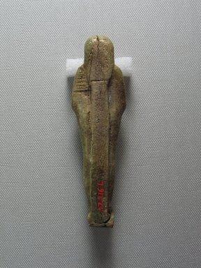 <em>Mummiform Ushabti of Wah-ib-re-em-akhet</em>, 664-525 B.C.E. Faience, 4 3/4 x 1 3/8 x 7/8 in. (12 x 3.5 x 2.3 cm). Brooklyn Museum, Charles Edwin Wilbour Fund, 37.216E. Creative Commons-BY (Photo: Brooklyn Museum, CUR.37.216E_view4.jpg)