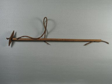 <em>Key with Ancient Cord</em>. Wood, plant fiber, 3 1/8 x 1 3/16 x 18 1/8 in. (7.9 x 3 x 46 cm). Brooklyn Museum, Charles Edwin Wilbour Fund, 37.276E. Creative Commons-BY (Photo: Brooklyn Museum, CUR.37.276E_overall.jpg)