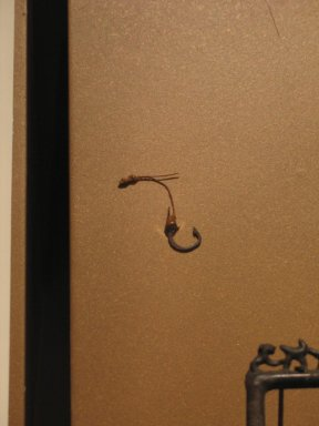 <em>Fish Hook</em>, ca. 1539-1292 B.C.E. Bronze, 9/16 x 3/4 in. (1.4 x 1.9 cm). Brooklyn Museum, Charles Edwin Wilbour Fund, 37.287E. Creative Commons-BY (Photo: Brooklyn Museum, CUR.37.287E_erg456.jpg)