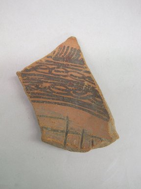 Aztec. <em>Vessel Fragment</em>, ca. 1250-1521. Ceramic, pigment, 3 x 2 1/8 x 5/16 in. (7.6 x 5.4 x 0.8 cm). Brooklyn Museum, 37.290. Creative Commons-BY (Photo: Brooklyn Museum, CUR.37.290.jpg)