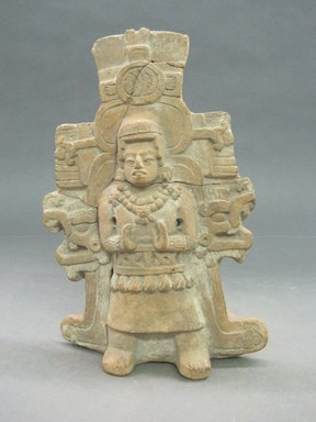 Maya. <em>Hollow Figurine</em>. Ceramic, 7 3/4 x 5 1/8 x 2 1/4 in. (19.7 x 13 x 5.7 cm). Brooklyn Museum, Frank Sherman Benson Fund and the Henry L. Batterman Fund, 37.2904PA. Creative Commons-BY (Photo: Brooklyn Museum, CUR.37.2904PA_view1.jpg)