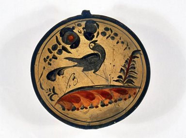 Tonala. <em>Dish</em>, 19th century. Ceramic, pigment, 2 1/2 x 7 3/8in. (6.4 x 18.7cm). Brooklyn Museum, Frank Sherman Benson Fund and the Henry L. Batterman Fund, 37.2942PA. Creative Commons-BY (Photo: Brooklyn Museum, CUR.37.2942PA_view1.jpg)