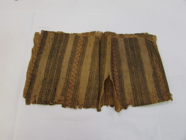 Hawaiian. <em>Tapa (Kapa)</em>, 19th century. Barkcloth, pigment, 39 3/4 x 21 1/4in. (101 x 54cm). Brooklyn Museum, Frank Sherman Benson Fund and the Henry L. Batterman Fund, 37.2991PA. Creative Commons-BY (Photo: , CUR.37.2991PA_overall.jpg)
