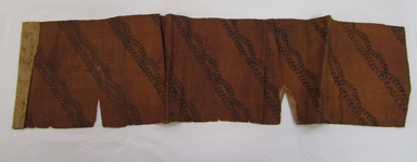 Hawaiian. <em>Tapa (Kapa)</em>, 19th century. Barkcloth, pigment, 32 5/16 × 7 7/8 in. (82 × 20 cm). Brooklyn Museum, Frank Sherman Benson Fund and the Henry L. Batterman Fund, 37.2992PA. Creative Commons-BY (Photo: , CUR.37.2992PA_overall.jpg)