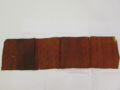 Hawaiian. <em>Tapa (Kapa)</em>, 19th century. Barkcloth, pigment, 32 5/16 × 9 1/16 in. (82 × 23 cm). Brooklyn Museum, Frank Sherman Benson Fund and the Henry L. Batterman Fund, 37.2993PA. Creative Commons-BY (Photo: , CUR.37.2993PA_overall.jpg)
