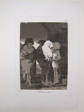 Francisco de Goya y Lucientes (Spanish, 1746-1828). <em>Poor Little Girls! (Pobrecitas!)</em>, 1797-1798. Etching and aquatint on laid paper, Sheet: 11 13/16 x 7 7/8 in. (30 x 20 cm). Brooklyn Museum, A. Augustus Healy Fund, Frank L. Babbott Fund, and Carll H. de Silver Fund, 37.33.22 (Photo: Brooklyn Museum, CUR.37.33.22.jpg)