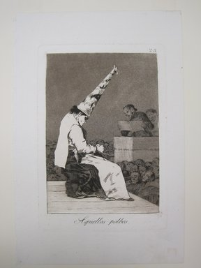 Francisco de Goya y Lucientes (Spanish, 1746-1828). <em>Those Specks of Dust (Aquellos Polbos)</em>, 1797-1798. Etching and aquatint on laid paper, Sheet: 11 13/16 x 7 15/16 in. (30 x 20.2 cm). Brooklyn Museum, A. Augustus Healy Fund, Frank L. Babbott Fund, and Carll H. de Silver Fund, 37.33.23 (Photo: Brooklyn Museum, CUR.37.33.23.jpg)