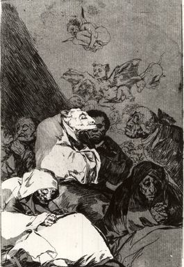 Francisco de Goya y Lucientes (Spanish, 1746-1828). <em>Correction (Correccion)</em>, 1797-1798. Etching and aquatint on laid paper, Sheet: 11 7/8 x 7 15/16 in. (30.2 x 20.2 cm). Brooklyn Museum, A. Augustus Healy Fund, Frank L. Babbott Fund, and Carll H. de Silver Fund, 37.33.46 (Photo: Brooklyn Museum, CUR.37.33.46.jpg)