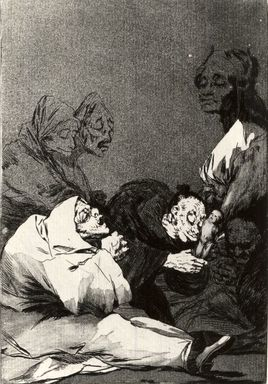 Francisco de Goya y Lucientes (Spanish, 1746-1828). <em>A Gift for the Master (Obsequio á el maestro)</em>, 1797-1798. Etching and aquatint on laid paper, Sheet: 11 7/8 x 8 in. (30.2 x 20.3 cm). Brooklyn Museum, A. Augustus Healy Fund, Frank L. Babbott Fund, and Carll H. de Silver Fund, 37.33.47 (Photo: Brooklyn Museum, CUR.37.33.47.jpg)