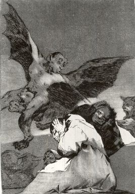 Francisco de Goya y Lucientes (Spanish, 1746-1828). <em>Tale-Bearers--Blasts of Wind (Soplones)</em>, 1797-1798. Etching and aquatint on laid paper, Sheet: 11 7/8 x 8 in. (30.2 x 20.3 cm). Brooklyn Museum, A. Augustus Healy Fund, Frank L. Babbott Fund, and Carll H. de Silver Fund, 37.33.48 (Photo: Brooklyn Museum, CUR.37.33.48.jpg)