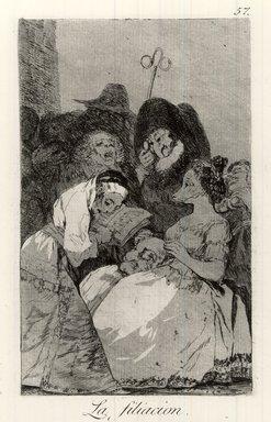 Francisco de Goya y Lucientes (Spanish, 1746-1828). <em>The Filiation (La Filiacion)</em>, 1797-1798. Etching and aquatint on laid paper, Sheet: 11 7/8 x 8 in. (30.2 x 20.3 cm). Brooklyn Museum, A. Augustus Healy Fund, Frank L. Babbott Fund, and Carll H. de Silver Fund, 37.33.57 (Photo: Brooklyn Museum, CUR.37.33.57.jpg)